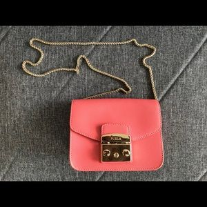 FURLA metropolis pink bag. Just used once, 99% new